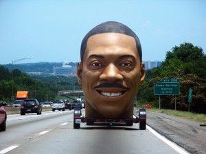 Eddie Murphy head car